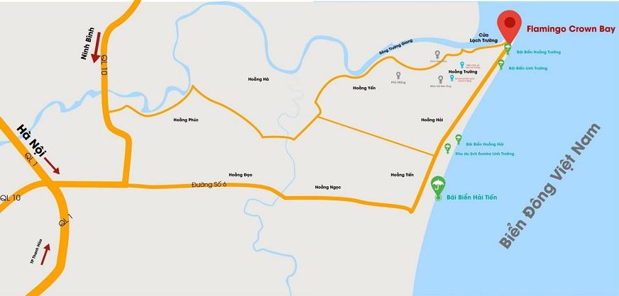 Tổ hợp khu nghỉ dưỡng cao cấp Flamingo Hải Tiến sở hữu một vị trí đắc địa hiếm có